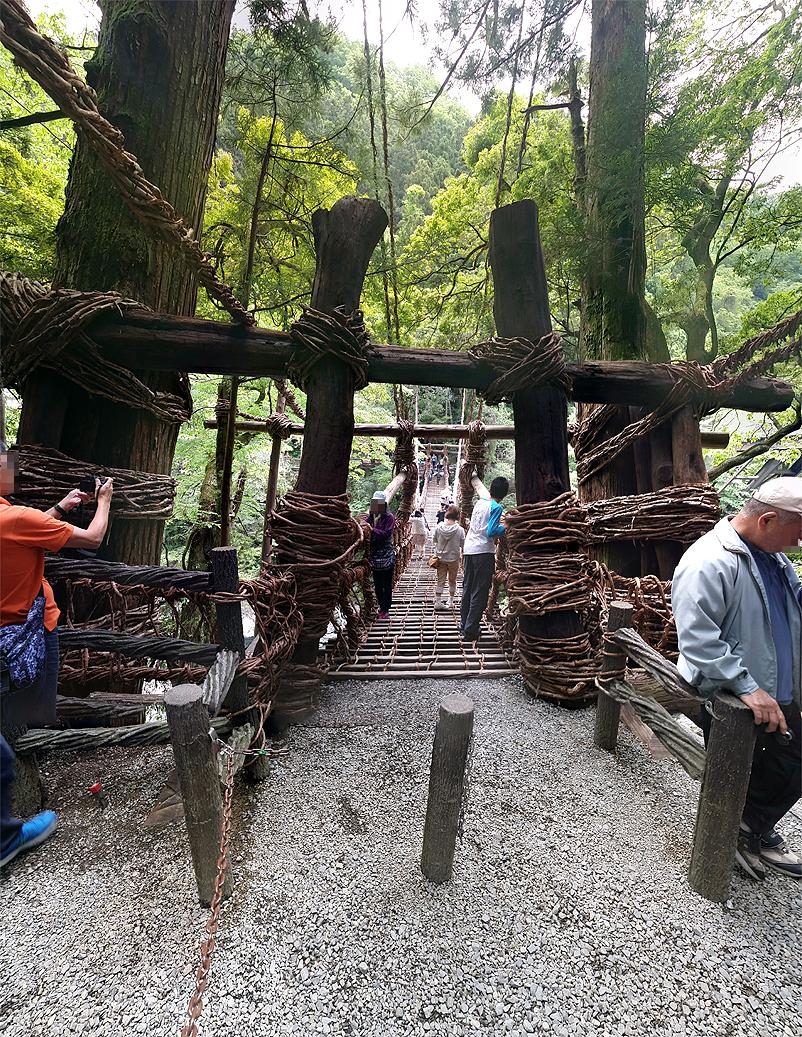 祖谷のかずら橋:入口