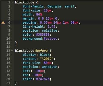 【wp覚書】引用 (blockquote) CSSデザイン