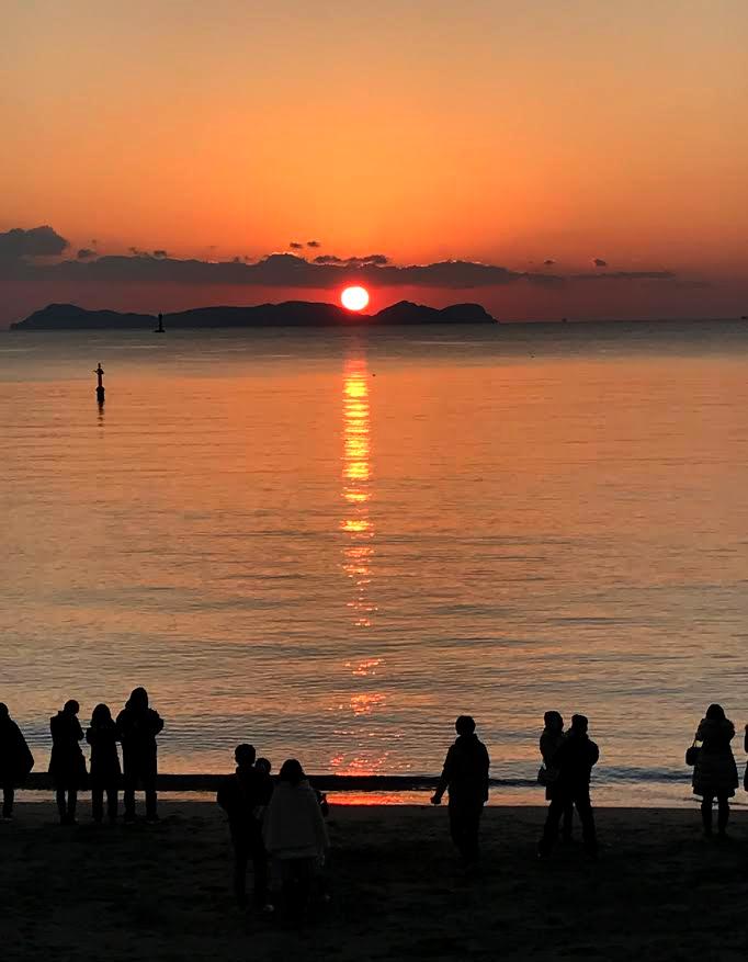 20170101初日の出(北の脇海水浴場)