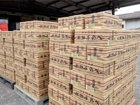 徳島名物「竹田製麺 半田そうめん」が売れています!3パレット仕入れてもすぐに無くなっちゃいます!