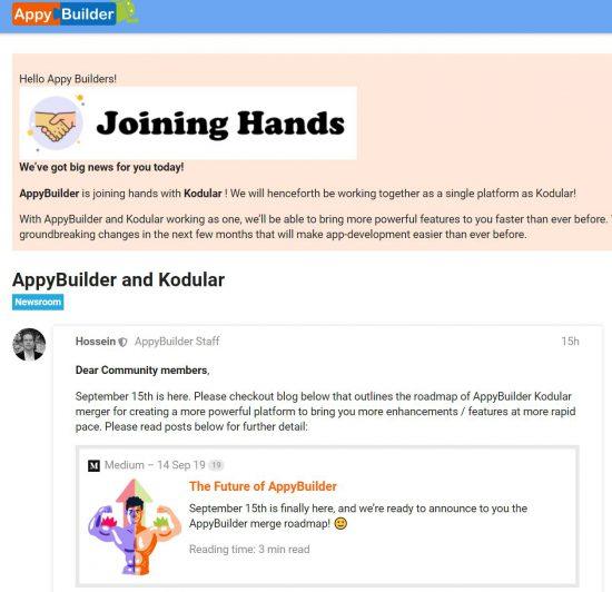 AppyBuilderがKodularに吸収合併!AppyBuilder and Kodular
