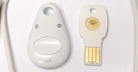 Titan security keyのタッチセンター