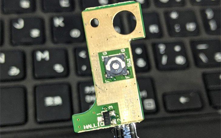 スイッチ部が潰れてしまったDell Vostro15 3568 電源ボタン基板