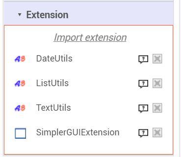 [自作ハンディターミナルアプリ改良]ボタンにmarginを追加するエクステンション:SimplerGUIExtension(App Inventor2 extension)エクステンション追加