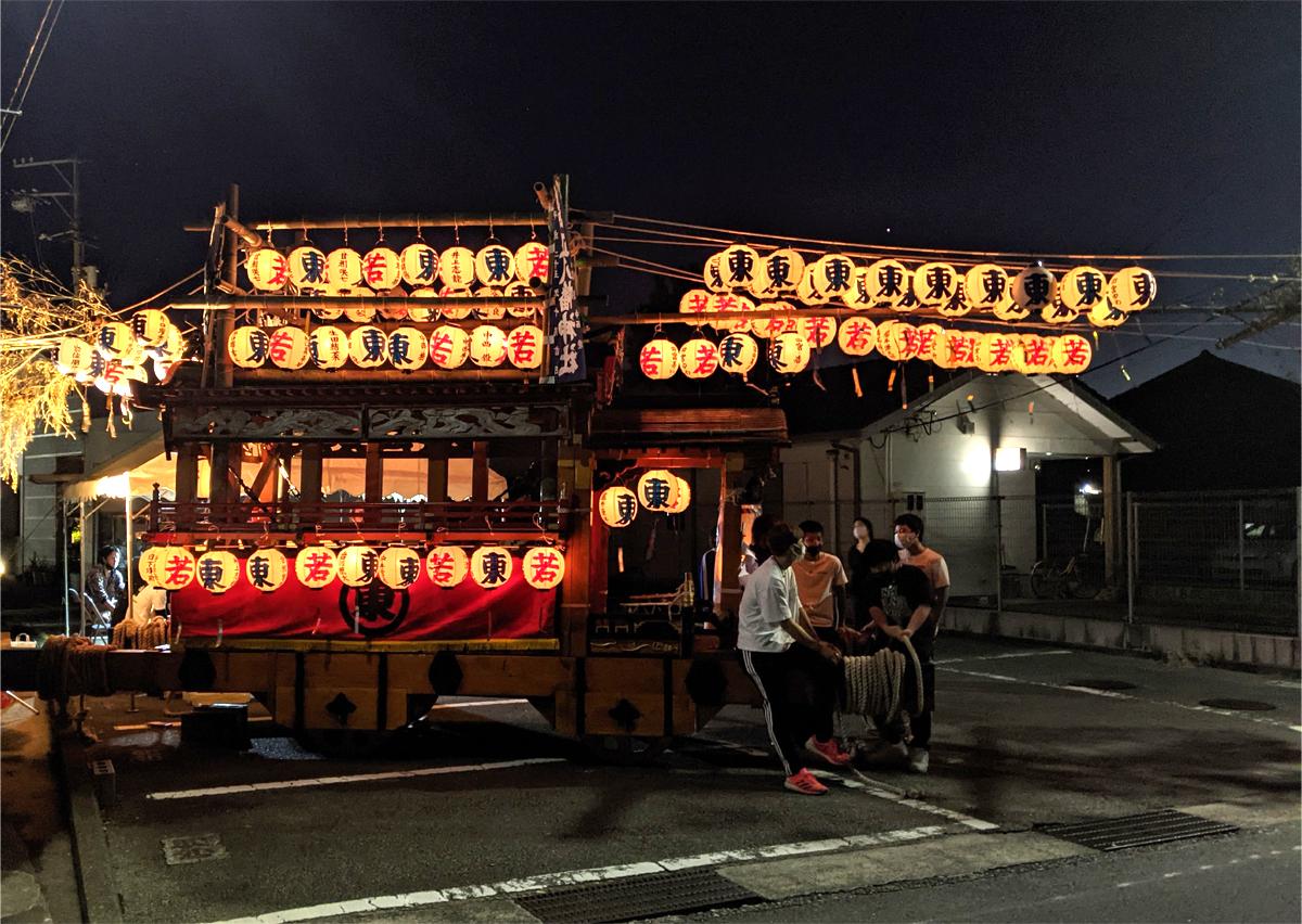 2021年、橘「だんじり祭り」は「だんじりの展示」だけ