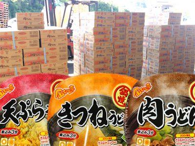 【秋冬商品】徳島製粉「金ちゃん亭 鍋焼きうどん」の初荷が届きました