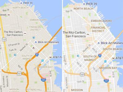 【ひとり言】Googleマップが改良されたそうです。これ改悪では?